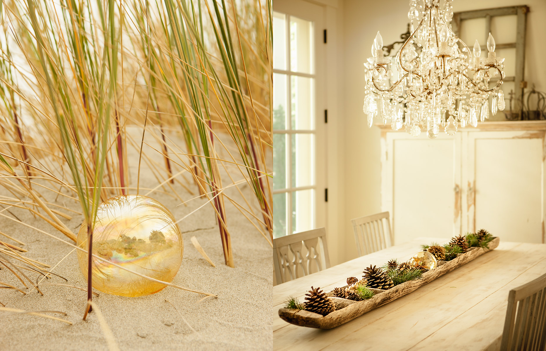 liverpool-glass_ball_on_beachchandelier_with_pinecone_placesetting_on_table-spread